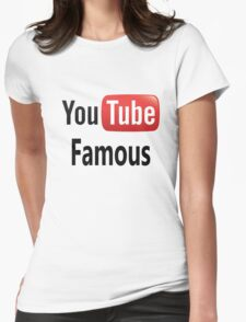 You Tube Famous Womens Fitted T-Shirt