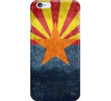 State flag of Arizona, with vintage retro style treatment iPhone Case/Skin