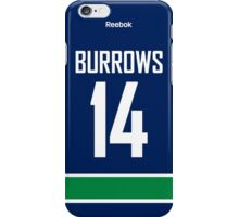 Vancouver Canucks Alexandre Burrows Jersey Back Phone Case iPhone Case/Skin