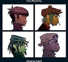 Gorillaz Demon Days by Treyshaun