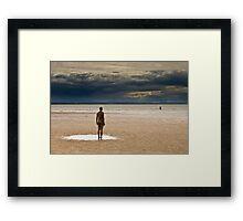 Crosby Beach - Anthony Gormley Statues  Framed Print