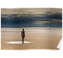 Crosby Beach - Anthony Gormley Statues  Poster