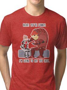 Mass Effect - Wrex and Mordin Tri-blend T-Shirt