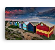 Colours of Brighton Beach Canvas Print