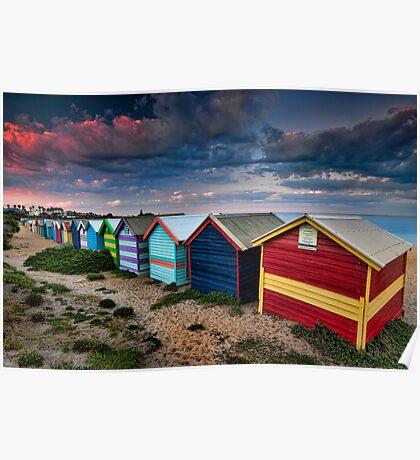 Colours of Brighton Beach Poster