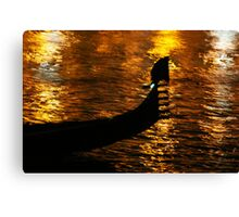 Gondola On Gold (No, It's Not The Loch Ness Monster!) Canvas Print