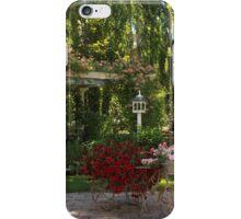 Portrait of a Peaceful Summer Garden iPhone Case/Skin