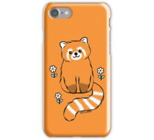 Red Panda with White Flowers iPhone Case/Skin