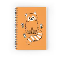 Red Panda with White Flowers Spiral Notebook