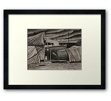 """Dry-Dock II"" Conte, 50x65cm. Framed Print"