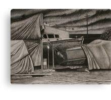 """Dry-Dock II"" Conte, 50x65cm. Canvas Print"