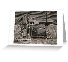 """Dry-Dock II"" Conte, 50x65cm. Greeting Card"
