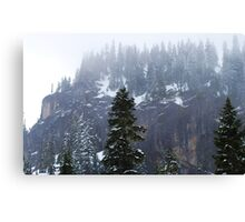 Mountain Snow in May Canvas Print