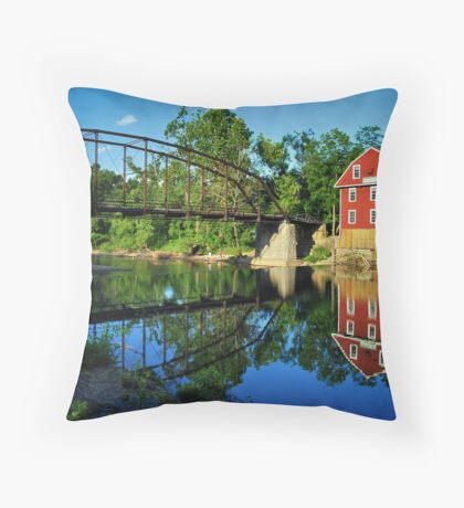 War Eagle Mill and Bridge Throw Pillow