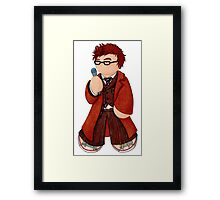 Plushie 10th Doctor Framed Print