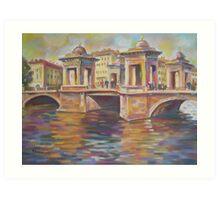 In Love- Lomonosov Bridge Across The Fontanka, Saint Petersburg, Russian Federation Art Print