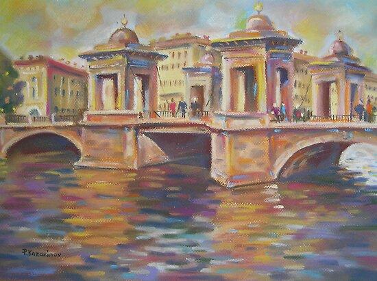 In Love- Lomonosov Bridge Across The Fontanka, Saint Petersburg, Russian Federation by Paulina Kazarinov