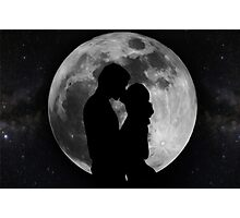 Lovers Silhouette Photographic Print