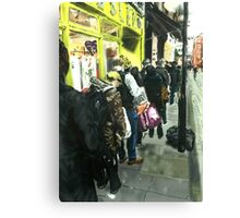 The Queue for Christmas Cheese- London Canvas Print