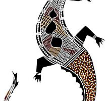 Aboriginal Art - Crocodile Authentic Designs by HogarthArts