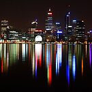 Perth City - by night by Kymie