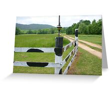 Bovine Lane Greeting Card