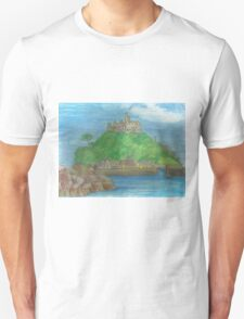 St Michael's Mount- view from the causeway T-Shirt