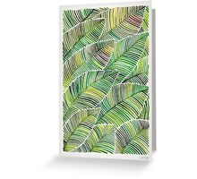 Tropical Green Greeting Card