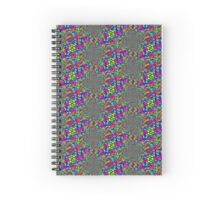 liquid mercury rainbow Spiral Notebook