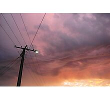 Purple Sky Photographic Print