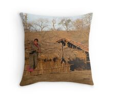 Two World's Collide Throw Pillow