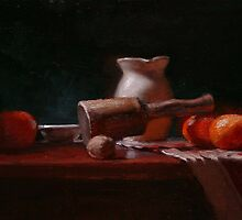 """""""Still-Life with oranges, a walnut, and a mallet"""" by JCLambert"""