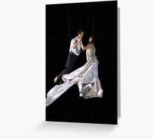 Of Angels and Light aerial ballet Greeting Card