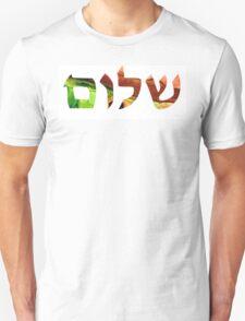Shalom 17 - Jewish Hebrew Peace Letters T-Shirt
