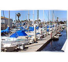 Redondo Beach Harbor 1119 Poster