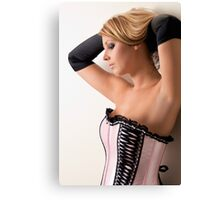 Pink Corset Canvas Print
