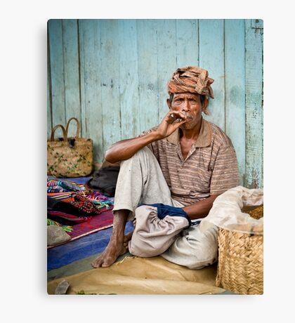 Resting at the market - Timor-Leste  Canvas Print