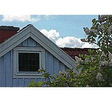 Bright Day Blue Cottage Gothenburg Photographic Print