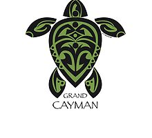 Black & Green Tribal Turtle Tattoo / Grand Cayman by Susan R. Wacker