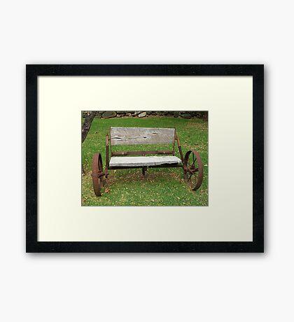 Wagon Seat Framed Print