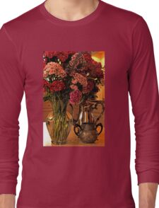 Teatime and Flowers  Long Sleeve T-Shirt