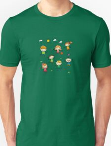 Kids playing outside in summer Unisex T-Shirt