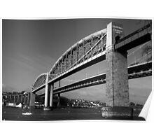 Tamar Bridge B&W Poster