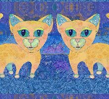 TWIN CATS by Jean Gregory  Evans