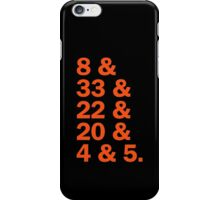 Baltimore Oriole HOFers - orange iPhone Case/Skin