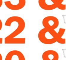 Baltimore Oriole HOFers - orange Sticker