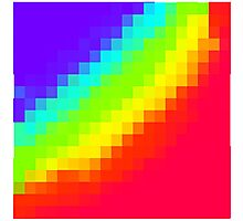 Pixel Rainbow Photographic Print