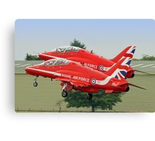 The Red Arrows Depart From Biggin Hill Canvas Print