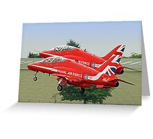 The Red Arrows Depart From Biggin Hill Greeting Card