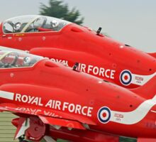 The Red Arrows Depart From Biggin Hill Sticker